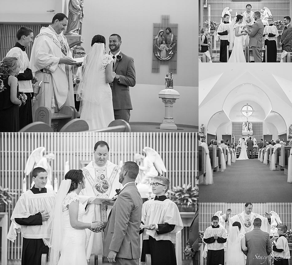 Wedding Ceremony at St. Joseph Catholic Church, Geneva, NE