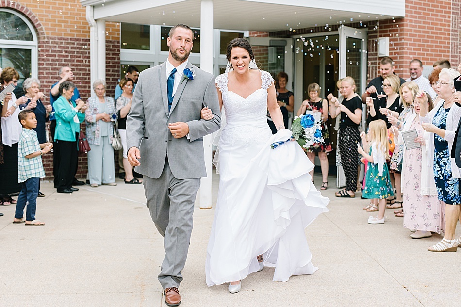 Wedding Exit with Bride and Groom