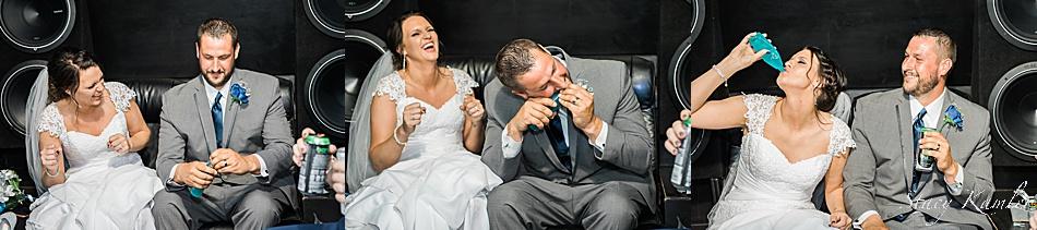 Bride and Groom chugging Kool-aid
