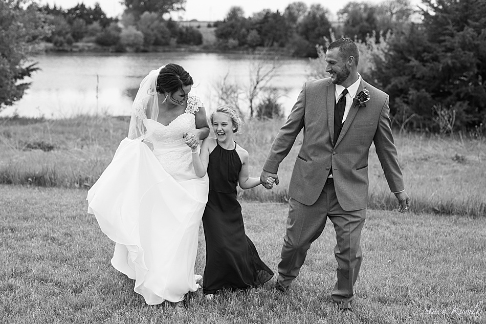 Wedding Day photos with Bride, Groom and Daughter