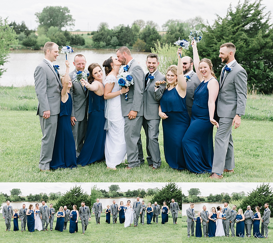 Bridal party at ReCharge Lake