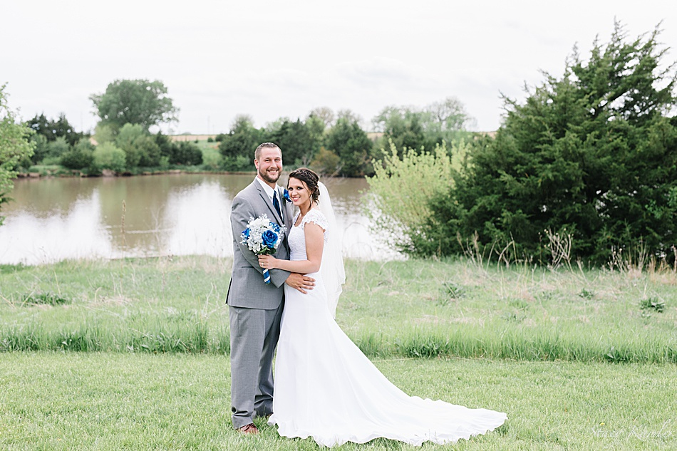 Bride and Groom Portraits at ReCharge Lake, York NE