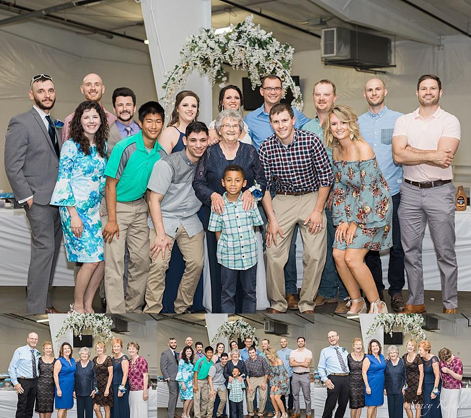 Family photos at the Reception
