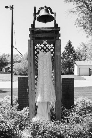 Dress hanging in the Bell
