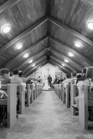 Bride and Groom in Prince of Peace Lutheran Church