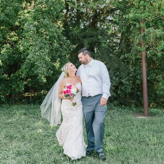 Wedding Portraits with lace dress and veil