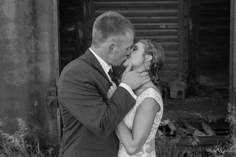 Bride and Groom Portraits at the Junkyard