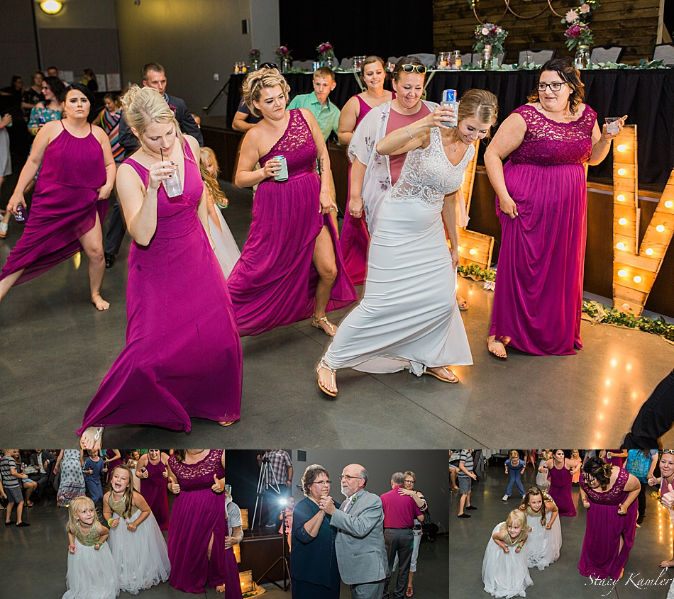 Bridal Party Dancing at the Reception