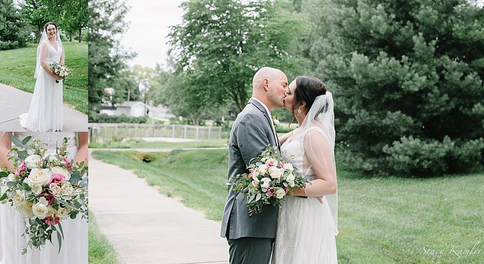 Outdoor portraits of bride and groom