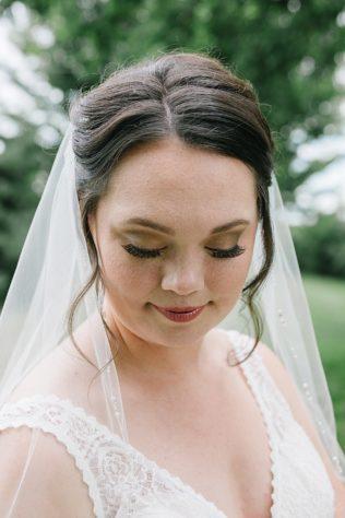 Bridal Portraits of smokey eyes and dark hair