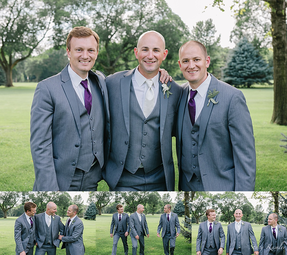 Groomsmen photos at the York Country club