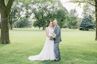 Bride and Groom Portraits at the York Country Club