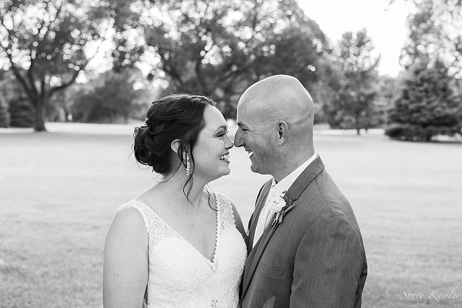 Black and White photos on a wedding day