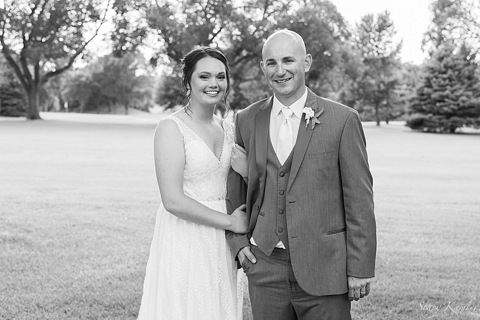 Bride and Groom at the Country Club in York, NE
