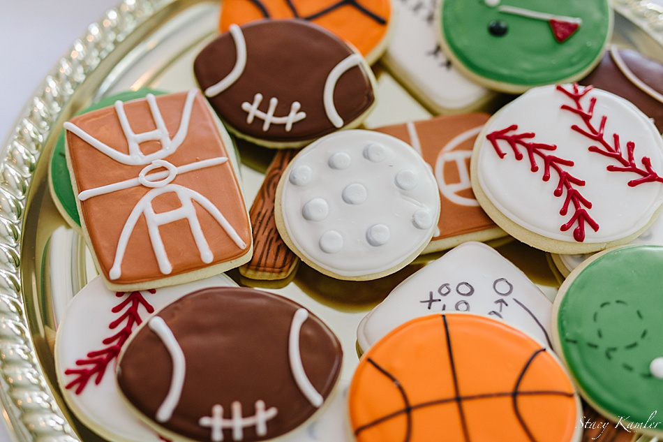Sports themed Cookies at the Reception