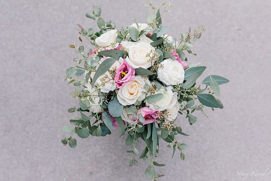 a look above the brides bouquet made by Geneva Floral