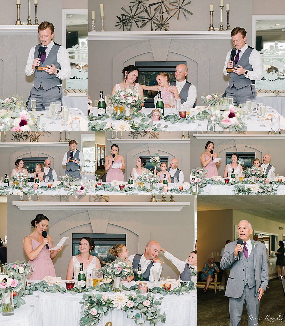 Toasts from the made of honor and best man