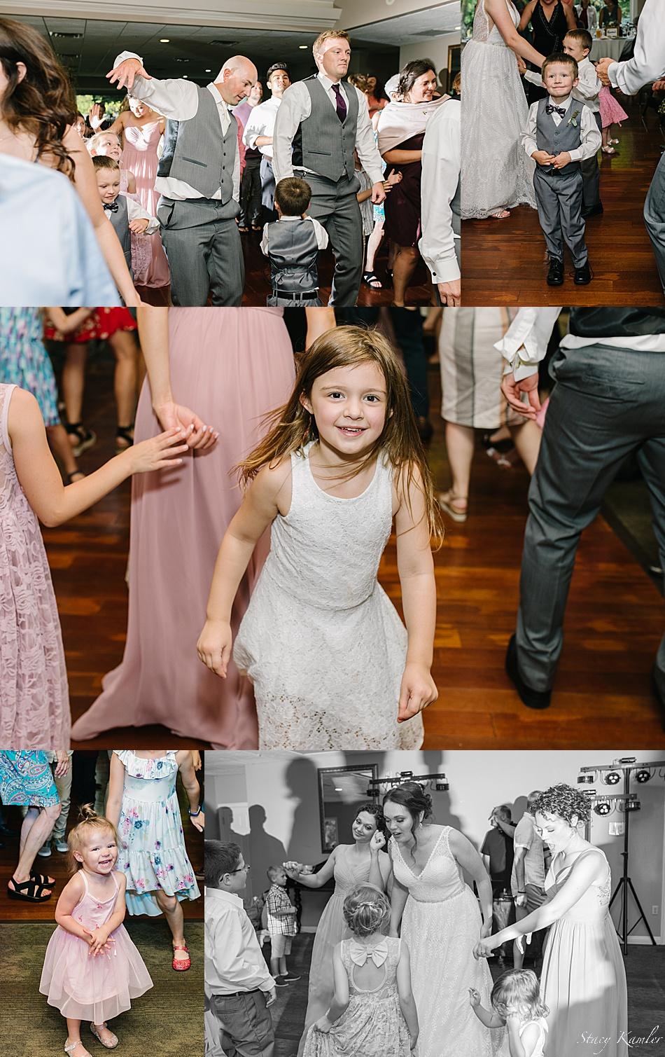Bridal Party dancing at Reception