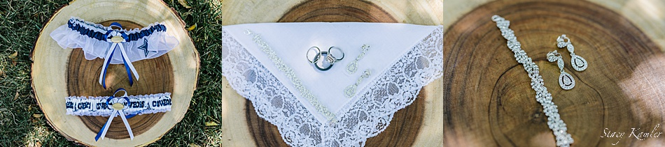 Family handkerchief with jewelry