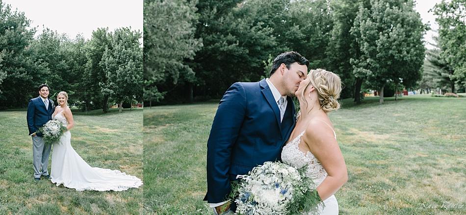 Bride and Groom portraits on wedding day in nebraska