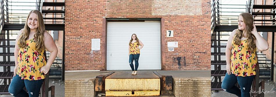 Nebraska senior girl downtown lincoln
