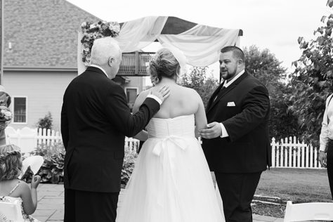 Father giving away the Bride