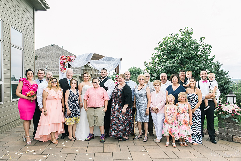 The entire family at the wedding