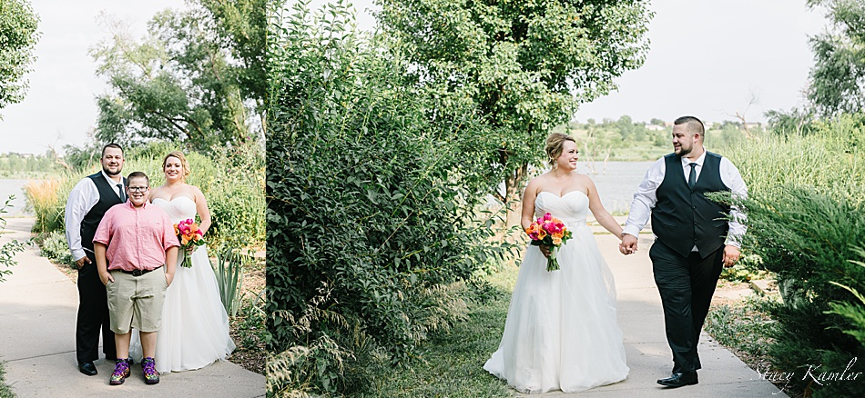 Bride and Groom Photos at Walnut Creek Lake
