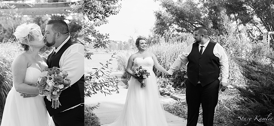 Bride and Groom photos in black and white