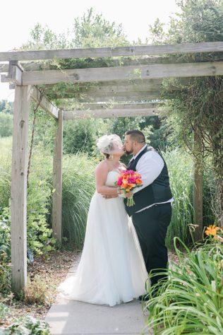 Bride and Groom Portraits at Walnut Creek Lake