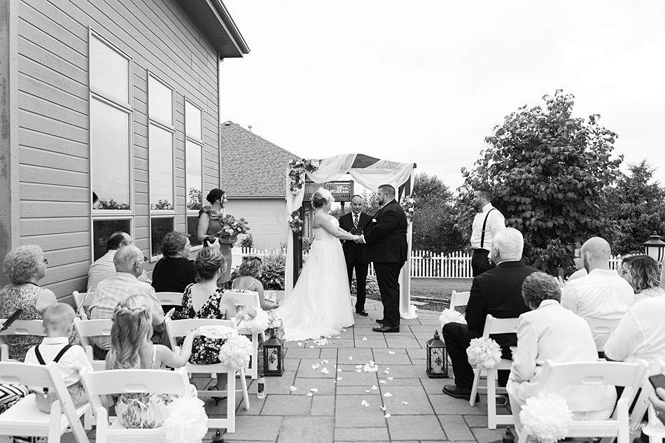 Backyard Ceremony in Omaha, NE