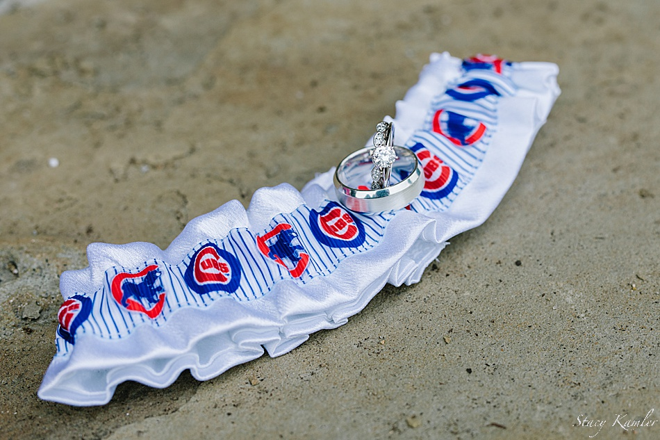 Cubs garter and wedding rings