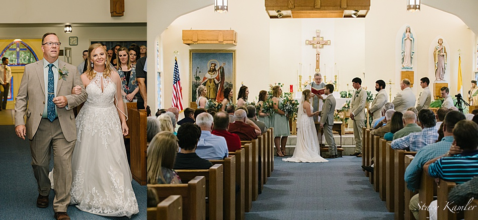 Ceremony at the Saint Wenceslaus Catholic Church