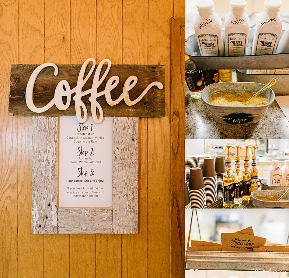 Coffee Bar at a Nebraska Wedding