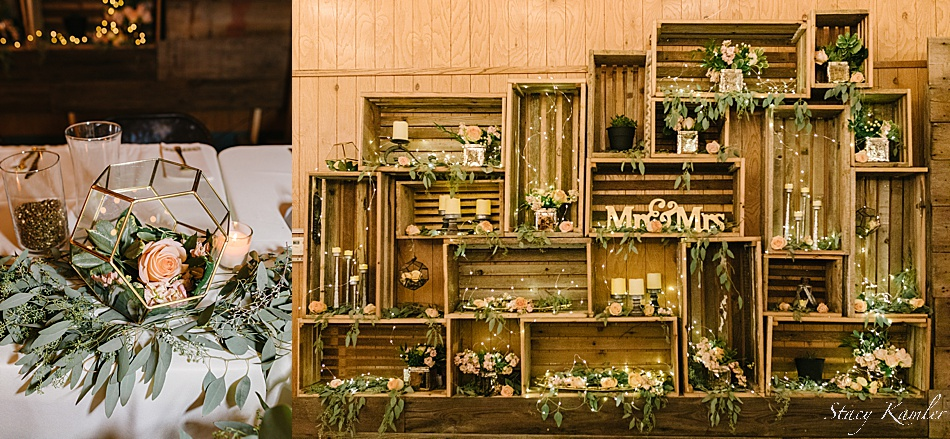 Rustic Chic Wedding decor at a nebraska wedding