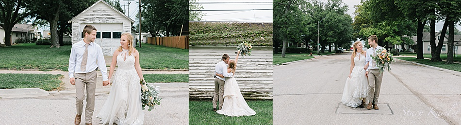 rustic chic bride and groom portraits