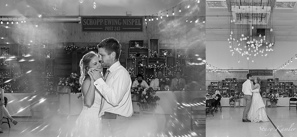 First Dances at a rustic chic wedding