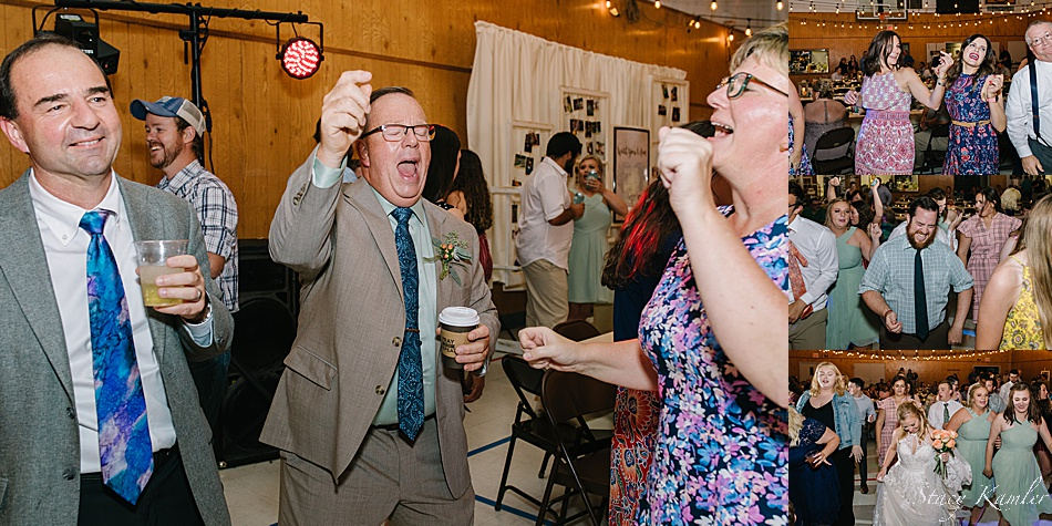 Dancing at a Rustic Chic Wedding