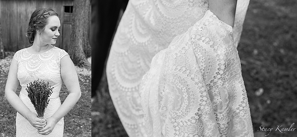 Bride in a lace dress