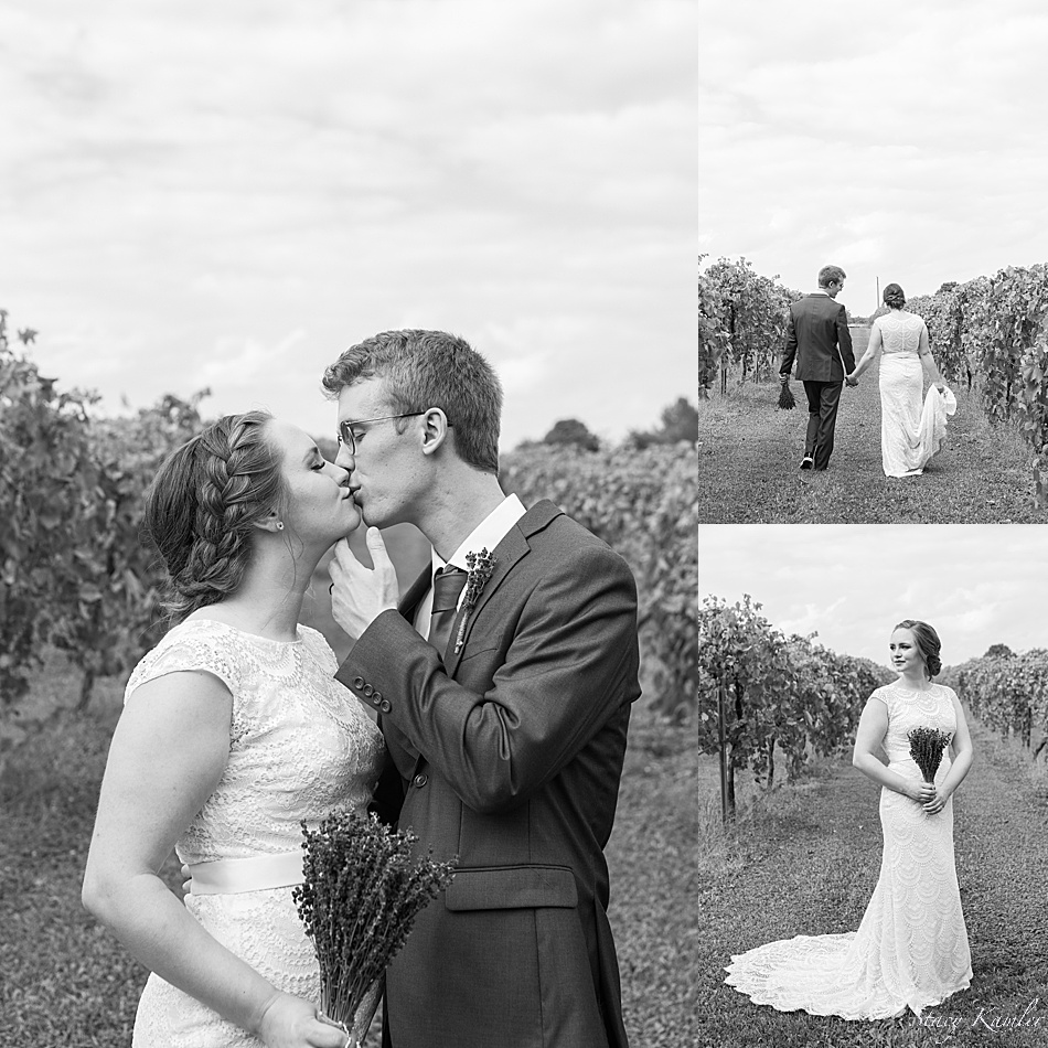 Bride and Groom Portraits in the Vineyard