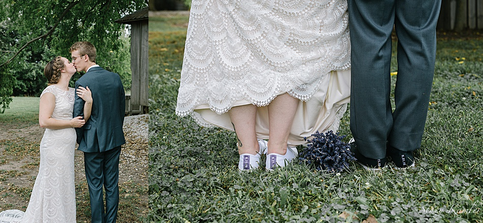 Fun shoes for the bride and groom