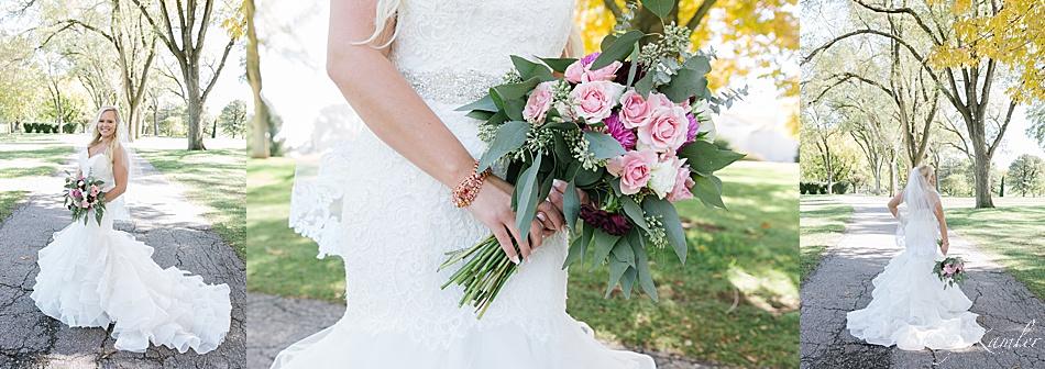 Bride in Mori Lee Dress