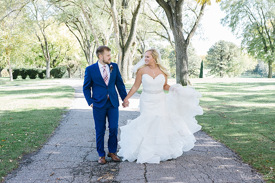 Bride and Groom Portraits at Hillcrest Country Club