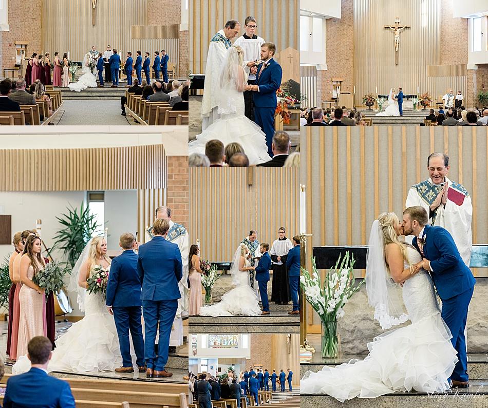 Wedding at St. Joseph's Catholic Church, Lincoln NE