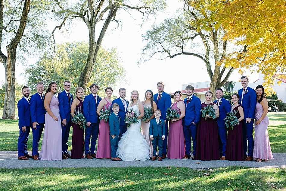 Bridal Party Photos at Hillcrest County Club