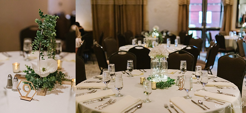 Wedding Centerpieces with greenery