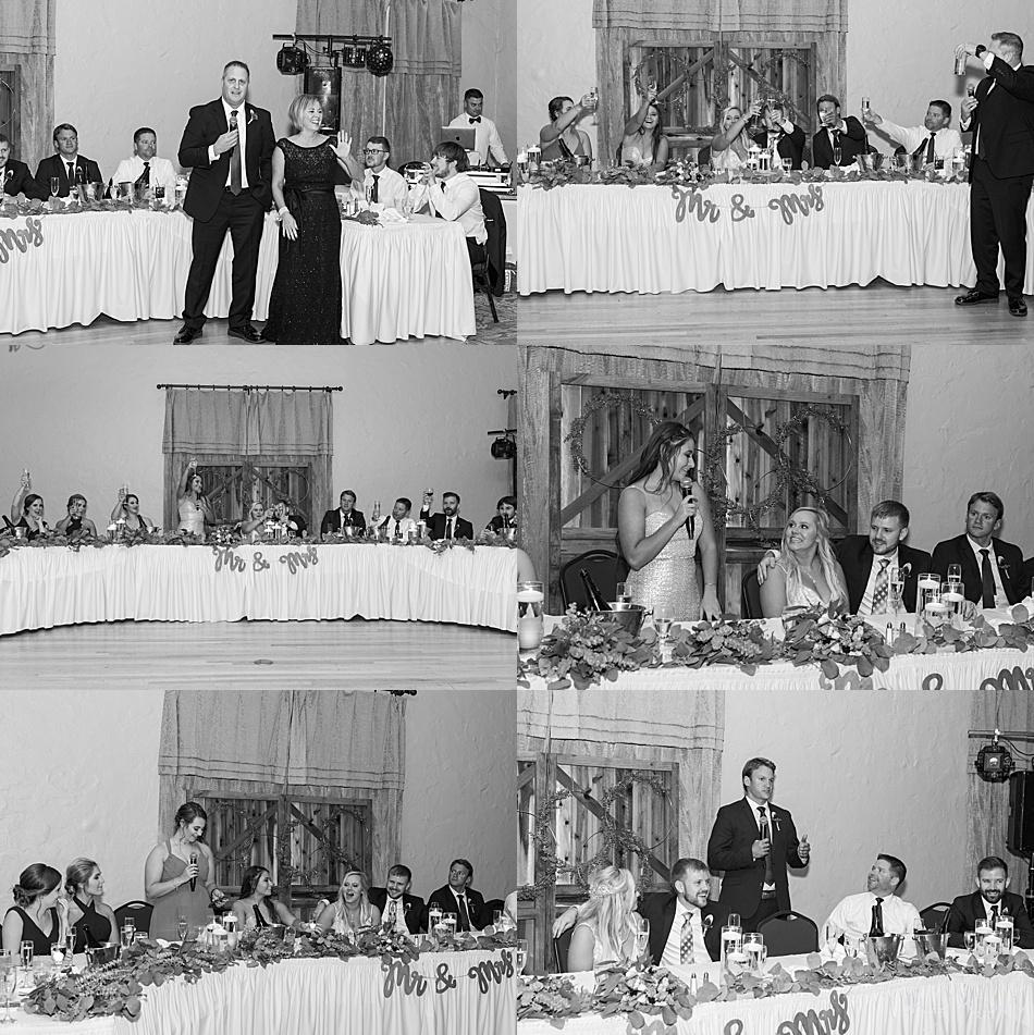 Toasts at Wedding
