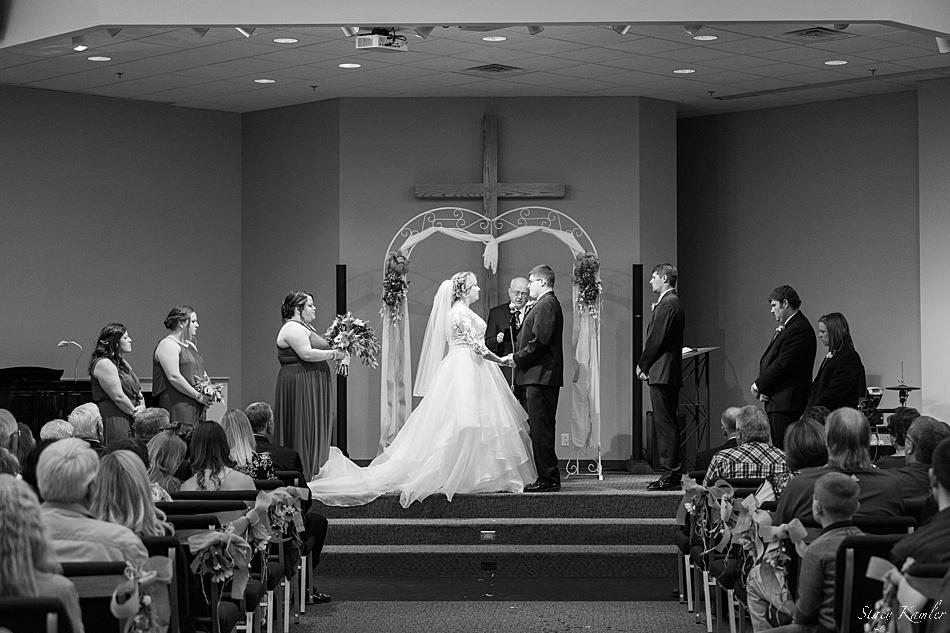 Ceremony at Arbor Drive Community Church in York, NE