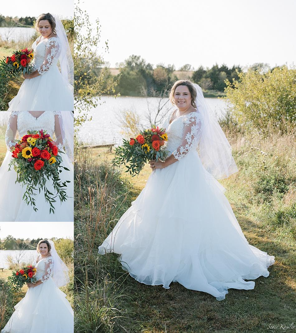 Bridal Portraits at Recharge Lake, York, NE