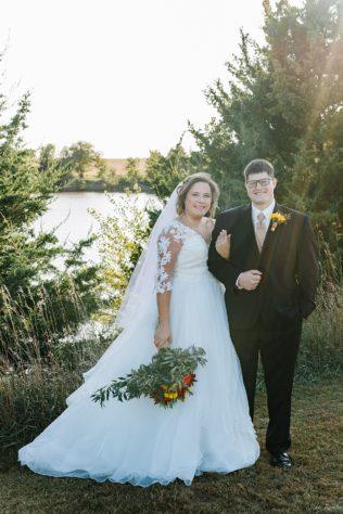 Sun Flare on Wedding Photos in October